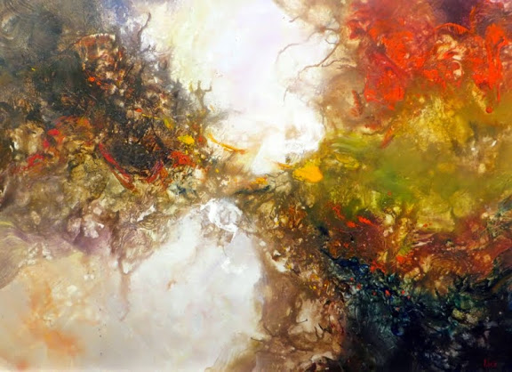 """Earth Flow"" 36"" x 48"", $3,495"