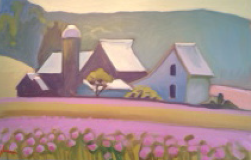 "Northern Michigan Farm 32""x48"" SOLD"