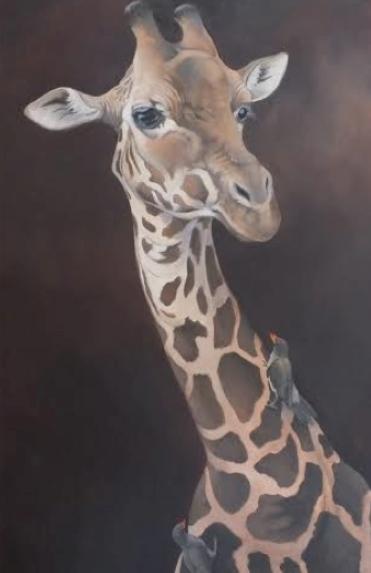 "Giraffe 30""x48"" SOLD"
