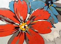 """Floral Burst"" 36"" x 48"", $2,495"