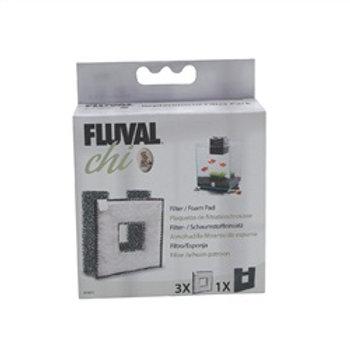 Plaquette de filtration (3) et mousse (1) pour filtreur Fluval Chi