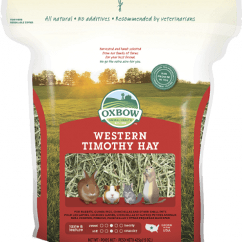 Foin Western Timothy Hay Oxbow (rouge)