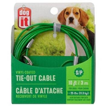 Câble d'attache petit chien 10pi DogIt