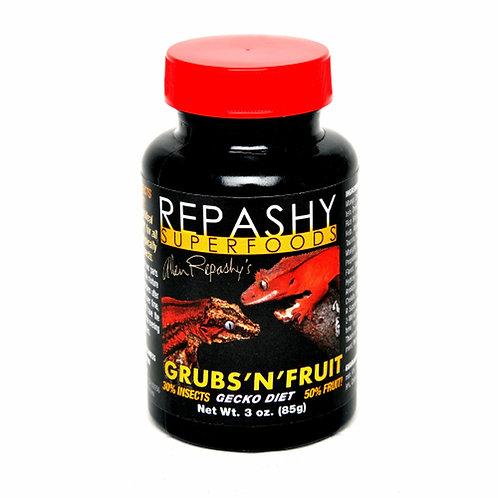 Nourriture pour gecko Grubs'n'Fruit Repashy SuperFood 85gr