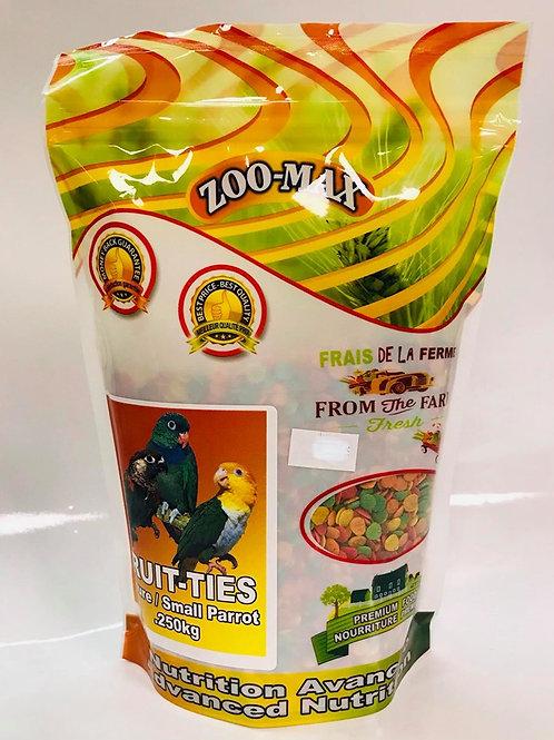 Nourriture avancée Fruit-ties petits perroquets Zoo-Max 0.250kg