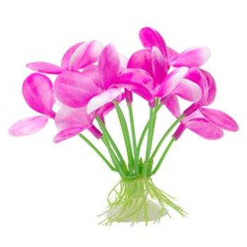 Orchidée rose Marina pour aquarium pour betta (2,75 po)