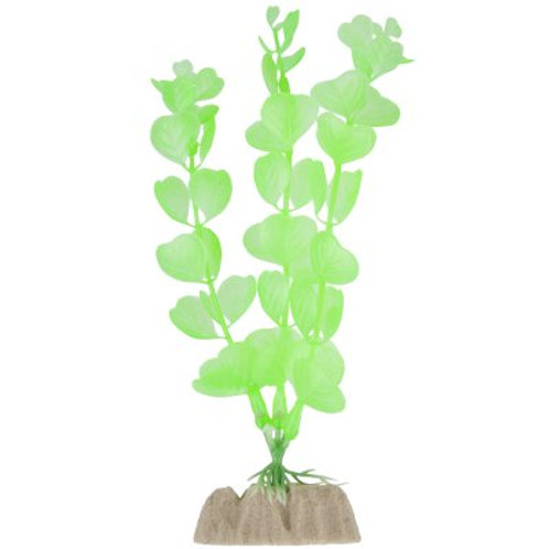 Moyenne plante verte fluorescente GloFish (6po)