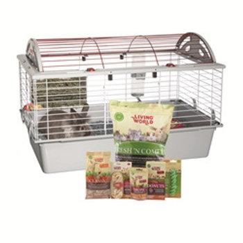 Cage équipée de luxe pour lapin Living World