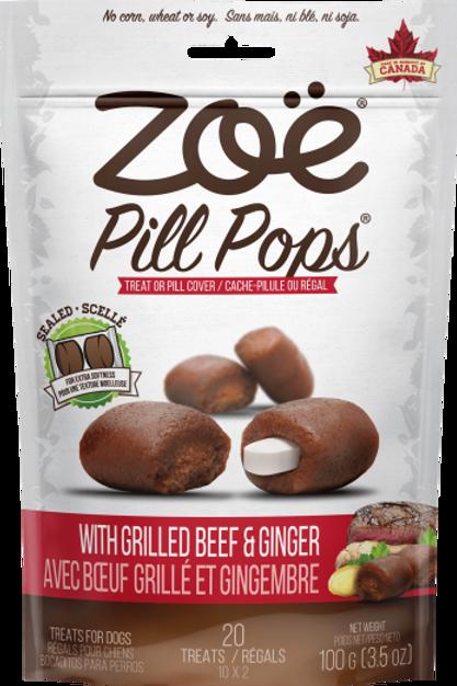 Friandise Pill Pops Zoe (cache-pillule) Boeuf grillé et gingembre 100gr