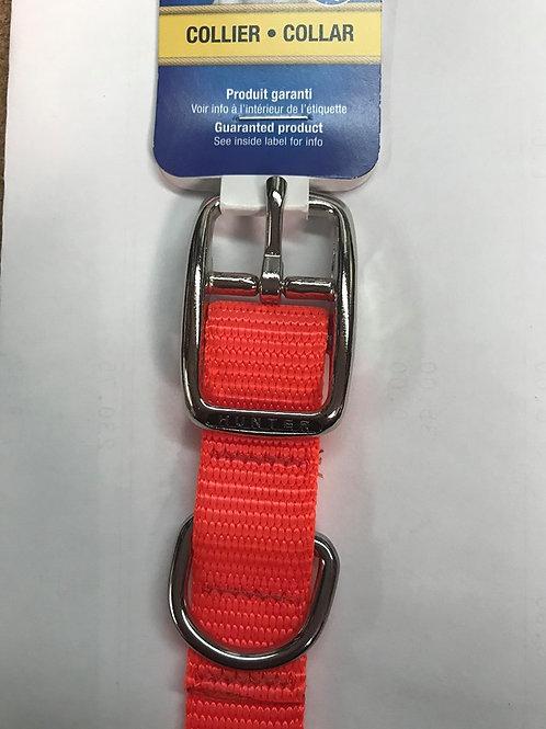 Collier uni de nylon Hunter 20po x 2cm (différentes couleurs)