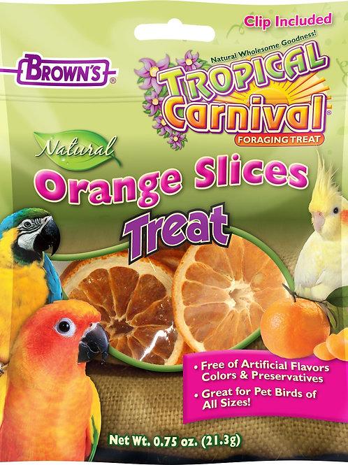 Tranches d'orange séchées Tropical Carnival 21.3gr (support inclus)