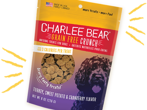 Gâteries Charlee Bear Crunch dinde et patate douce 226gr
