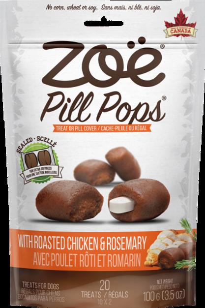 Friandise Pill Pops Zoe (cache-pillule) Poulet rôti et romarin 100gr