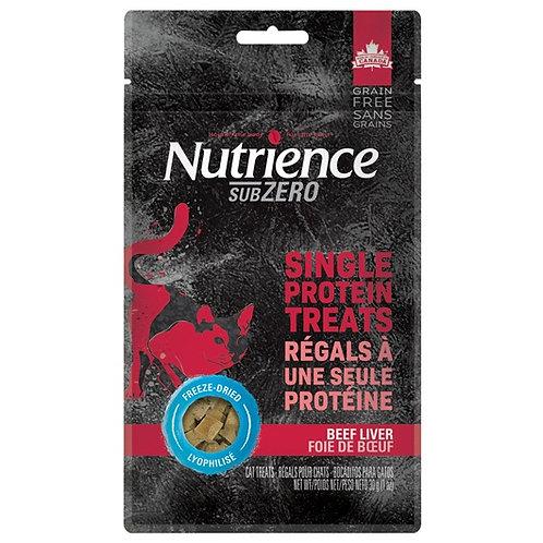 Régals séchés à froid foie de boeuf (protéine unique) Nutrience SubZero 30gr
