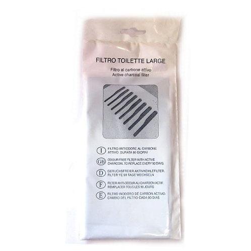 Filtre de charbon pour bac à litière large