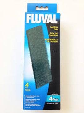 Bloc de charbon (4) pour filtreur Fluval 4plus