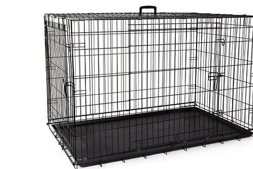 Cage grillagée 2 portes avec séparateur Bud'z
