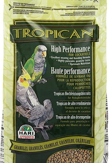 Granulés haute performance pour cockatiel Tropican 820gr