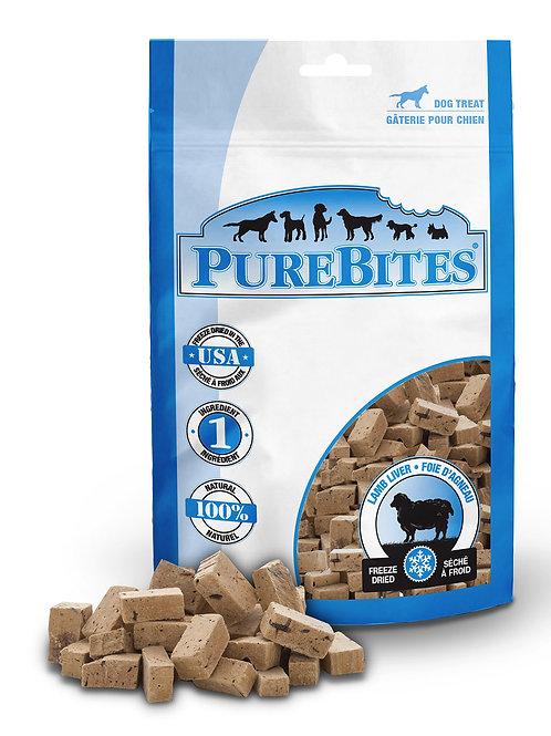 Purebites foie d'agneau lyophilisée 45gr