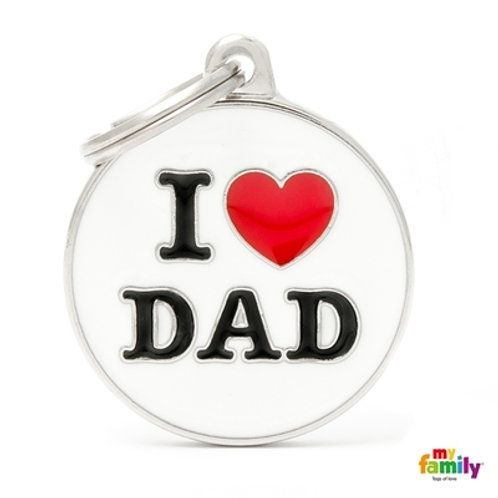 Médaille MyFamily Charms I love dad