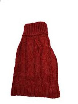 Tricot en acrylique rouge Doggie-Q Sweater