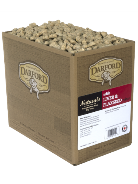Darford gâteries foie et graines de lin (sac de vrac d'environ 320gr)