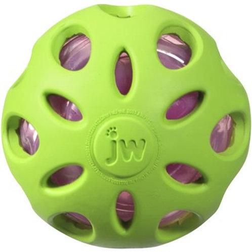 Jouet de caoutchouc vert Crackle Ball JW (3po)