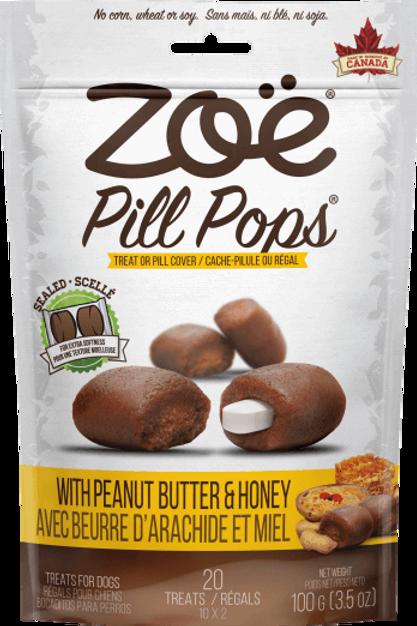 Friandise Pill Pops Zoe (cache-pillule) Beurre d'arachide et miel 100gr