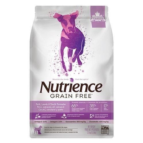 Nutrience Sans grain porc/agneau/canard