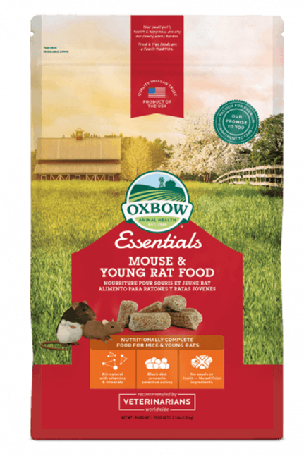 Nourriture jeunes rats/souris Essentials Oxbow 1.13kg
