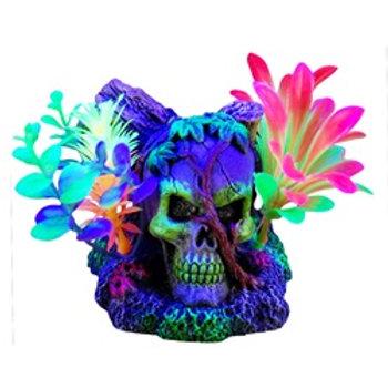 Ornement iGlo Marina, crâne et vignes avec plantes (4,5 po)