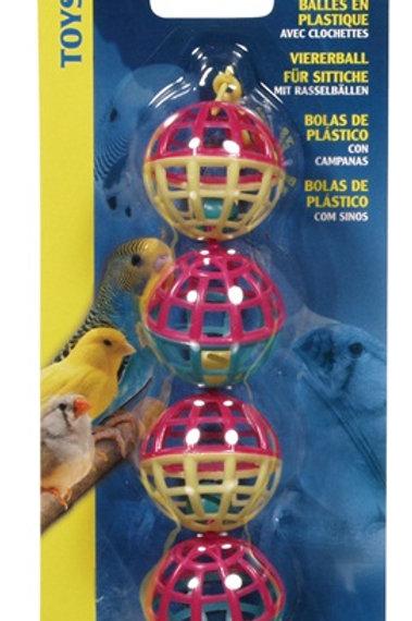 Guirlandes de balles en plastique et clochettes Living World