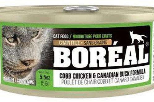 Canne de pâté poulet chair Cobb et canard canadien Boréal 156gr