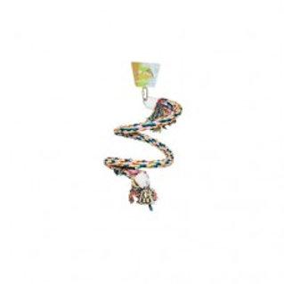 Corde de coton flexible multicolor avec clochette Beaks moyenne