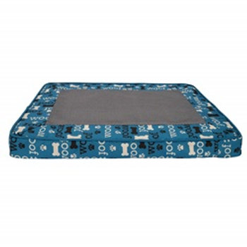 Lit orthopédique bleu à fibres entrelacées Woof DreamWell