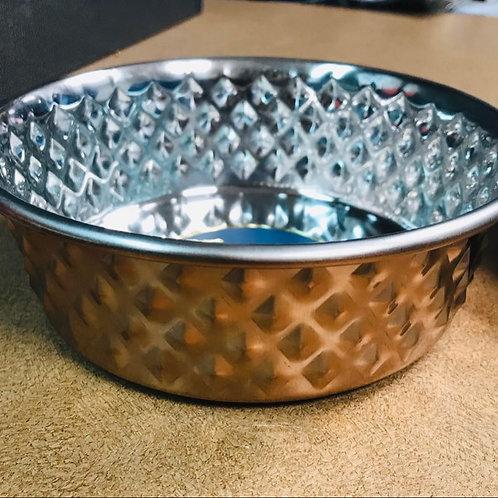 Bol en acier inoxydable Copper diamond Dine Asty PawPourri