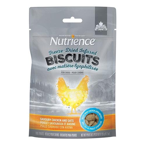 Biscuits séchés à froid poulet et avoine Nutrience Infusion 135gr