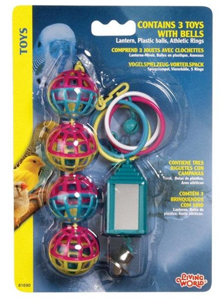 Trio de jouet (lanterne, balle et anneau) Living World