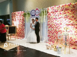 Sweet Flowery Theme Backdrop + Photo Album Corner + Reception + Romantic Crystal Walkway + VIP Table