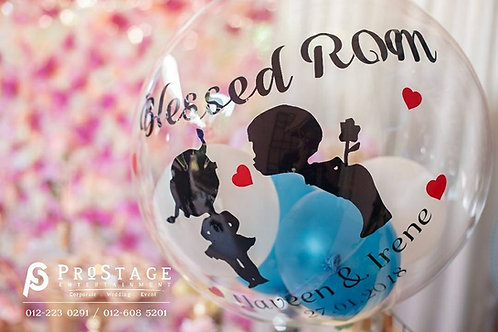 Transparent Bubble Balloon with Customize Wording