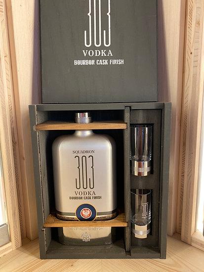 Vodka squadron 303 «mustang box» bourbon cask finish