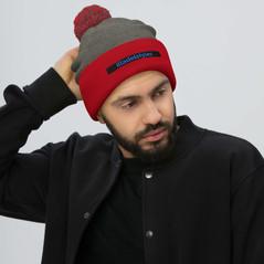 pom-pom-knit-cap-dark-heather-grey-red-5