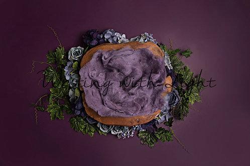 Purple wooden nest