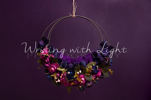 Purple metal floral swing
