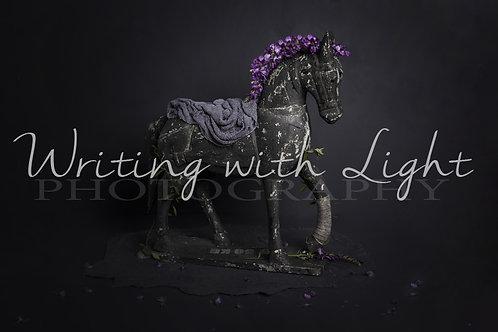 Purple floral horse