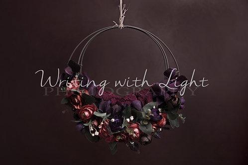Wine metal floral swing