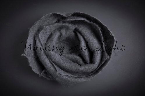 Grey felt rose