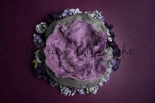 Purple with grey nest
