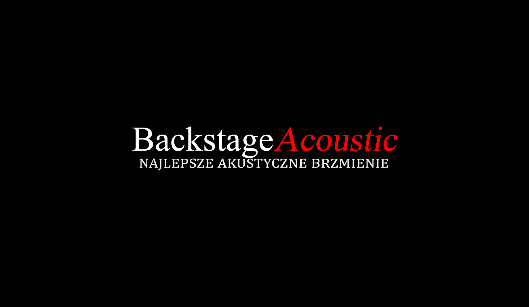 BACKSTAGE ACOUSTIC