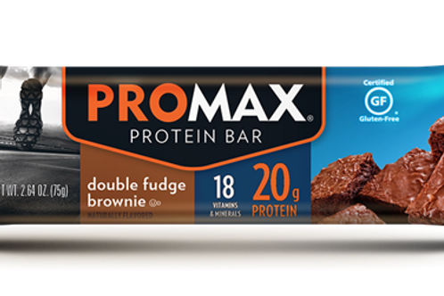 NuGo Promax Barra Double Fudge Brownie (Caja con 12)